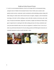Health and Safety Research Project