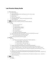 Lab Practical Study guide
