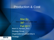 Production and Cost 11