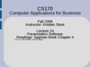 Lecture 24 - Powerpoint