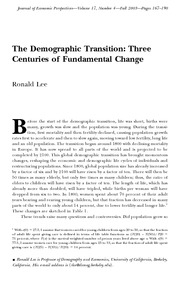 Three Centuries of Fundamental Change
