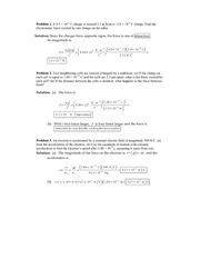Problems and Solutions on Electrostatic