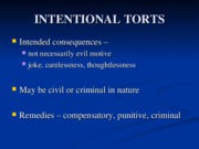 _3 INTENTIONAL TORTS