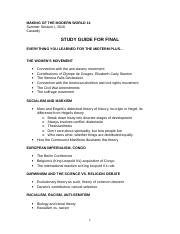 MMW 14 Cassedy Final Study Guide