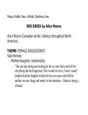 A red dress alice munro pdf version
