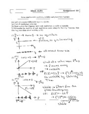 MATH 1LT3 Assignment 10 Solutions