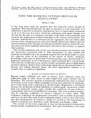 ARTICE DOW (1996) WHY THE BANKING SYSTEM SHOULD BE REGULATED