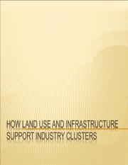 Land Use and Infrastructure support Industry Clusters2