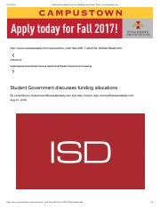 Student Government discusses funding allocations | News | iowastatedaily.com.pdf