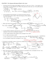 CHAPTER+3+Drills_solutions Quantum Mechanical Model of Atom