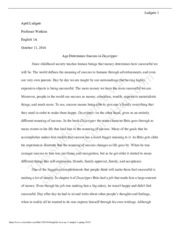 5 Pages English 1a Essay 3 Sample 2 Spring 2015