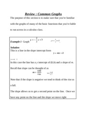 Common Graphs Lab Exercises and Notes