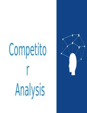 Competitor Analysis.ppt