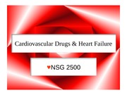 Class 11 Cardiovascular and heart failure