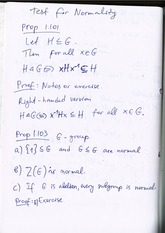 Test for Normality of Subgroup (lecture notes)