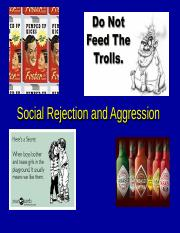 social rejection and aggression lecture
