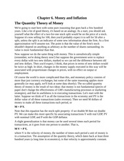 Money and Inflation, Quantity Theory of Money, Open Market Operations, Interest Rates and Inflation,