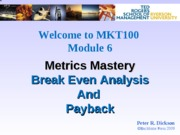 Metric Mastery - Slides Posted