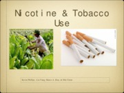 nicotine and tobacco
