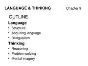 Psych 1000 9A Language and Thought