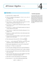 Answers to 2B Linear Algebra Exercise Sheet 4 (Solutions)