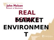 PPT RE MARKET ENVIRONMENT PRICING PUZZLE