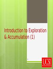 Lecture 1 Introduction to exploration and accumulation.ppt
