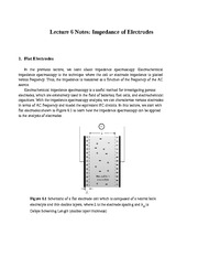 Lecture 6 Notes Impedance of Electrodes
