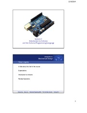 2. Intro to Arduino and the Arduino Programming Language