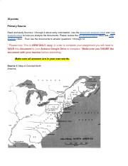 Early colonization of North America.docx - Early ...