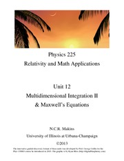 12-Discussion-Multidimensional Integration II and Maxwell's Equations