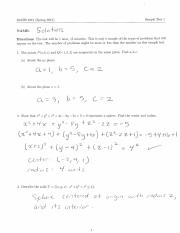 Sample Test 1 Solutions