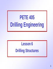 6. Drilling Structures