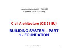 12-Civil Architecture-Class 12-FOUNDATION SYSTEM