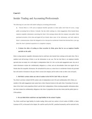 Case 6-3 Insider Trading and Accounting Professionals 3E