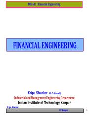 IME611 - 0.0  Financial Engineering
