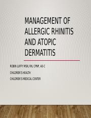 Management of allergic rhinitis and atopic dermatitis.pptx