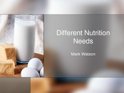 SCI241 Week 7 CheckPoint Lifespan Nutritional Needs Presentation