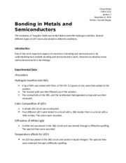 Chemistry Lab 11 - Bonding in Metals and Semiconductors