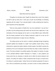 Reflective Essay on ENGLCOM