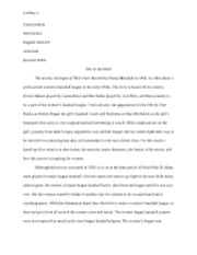 English 100i-3rd Paper