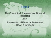 Unit 1 - Framework & HKAS1 (revised)