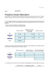 Financial Operations - 7.5 Practice Asset Allocation