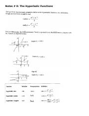 Notes #8- The Hyperbolic Functions new.doc