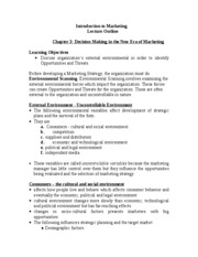Introduction to Marketing Chapter 3