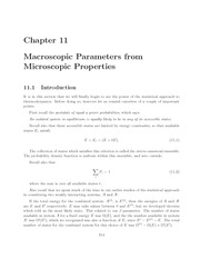 Thermal Physics lecture notes 11