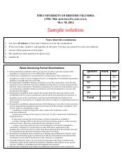 CPSC304-2014ST1-MT1-Solution