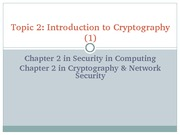 Topic2 Introduction to Cryptography (1&2)