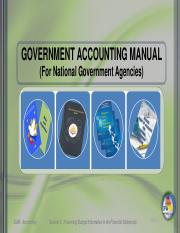session 3 budget government accounting manual for national rh coursehero com government accounting manual volume 1 government accounting manual volume ii