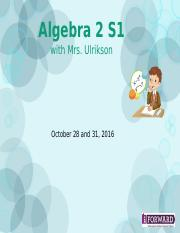 5.15 - Algebra 2 Review for Exam(NO attendance password)